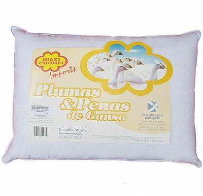 TRAVESSEIRO 100% PLUMAS DE GANSO 0,50 X 0,70 - NIAZI