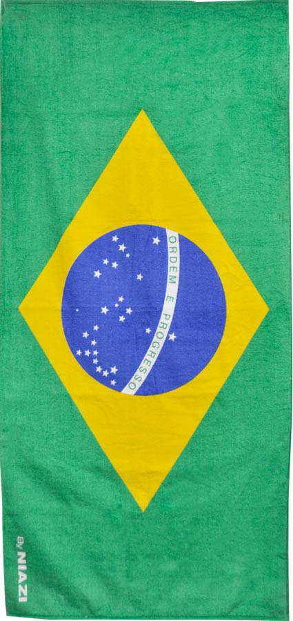TOALHA DE PRAIA BANDEIRA DO BRASIL 0,70 X 1,50