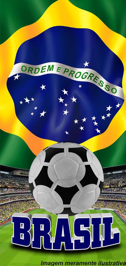 TOALHA DE PRAIA BRASIL 0,70 X 1,50 ESTADIO