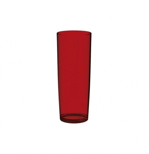 COPO LONG DRINK 300ML VERMELHO TRANSLUCIDO (UZ135-VM) - UZ Utilidades