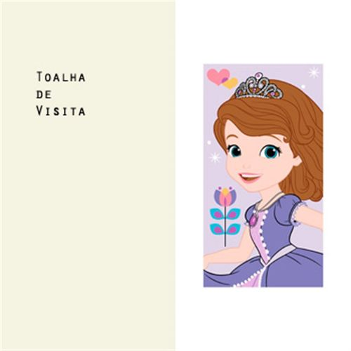 TOALHA DE VISITA DISNEY LIGHT SOFIA FRIENDS - SANTISTA