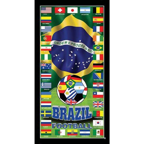 TOALHA DE PRAIA BRASIL SOCCER TEAM 76 X 1,52 - BUETTNER