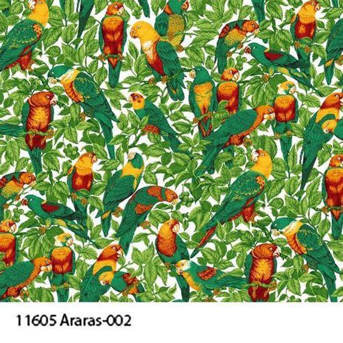 TECIDO TRICOLINE BICHOS 1,00 X 1,40 11605 ARARAS 002 - NIAZI