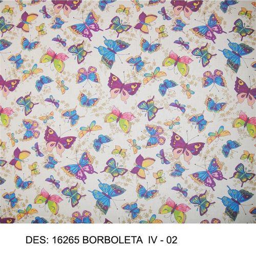 TECIDO TRICOLINE BICHOS 1,00 X 1,40 16265 BORBOLETAS IV 007 - NIAZI