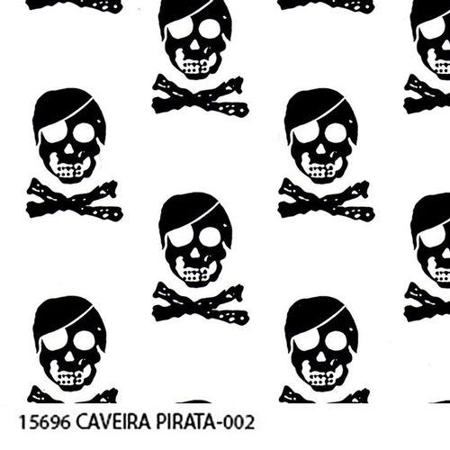 TECIDO TRICOLINE CAVEIRAS 1,00 X 1,40 15696 CAVEIRA PIRATA 002 - NIAZI