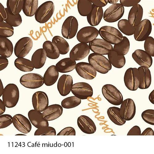 TECIDO TRICOLINE COZINHA 1,00 X 1,40 CAFE MIUDO DES. 001 - NIAZI