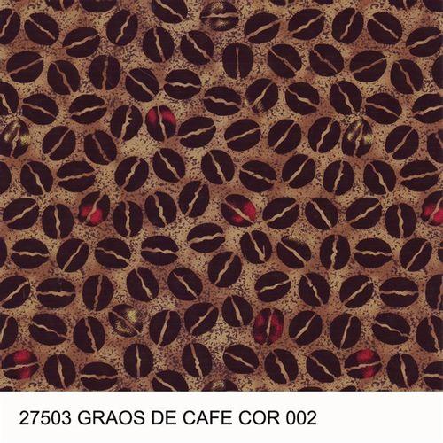 TECIDO TRICOLINE COZINHA 1,00 X 1,40 27503 GRÃO DE CAFÉ DES. 002 - NIAZI
