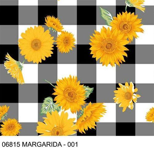 TECIDO TRICOLINE FLORAL 1,00 X 1,40 06815 MARGARIDA DES. 001 - NIAZI