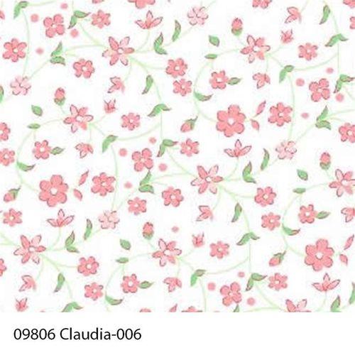 TECIDO TRICOLINE FLORAL 1,00 X 1,40 09806 CLAUDIA DES. 006 - NIAZI