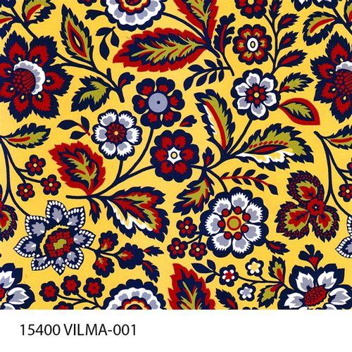 TECIDO TRICOLINE FLORAL 1,00 X 1,40 15400 VILMA DES. 001 - NIAZI