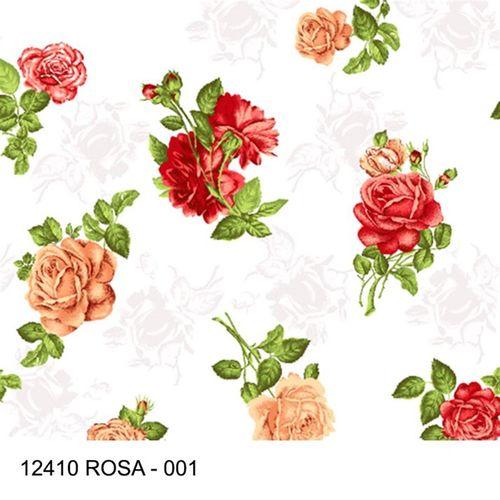 TECIDO TRICOLINE FLORAL 1,00 X 1,40 12410 ROSAS DES. 001 - NIAZI