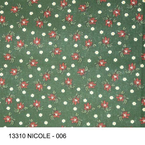 TECIDO TRICOLINE FLORAL 1,00 X 1,40 13310 NICOLE DES. 006 - NIAZI