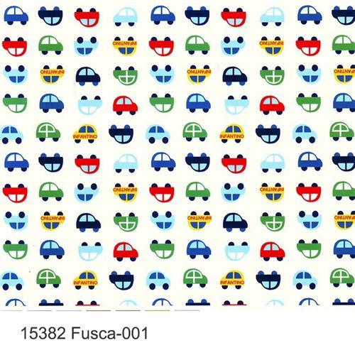 TECIDO TRICOLINE INFANTIL 1,00 X 1,40 15382 FUSCA DES. 001 - NIAZI