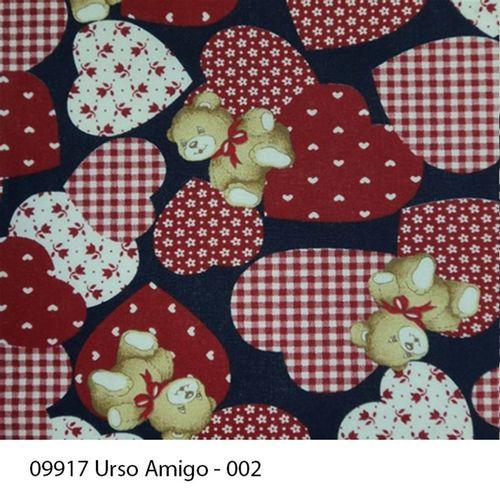TECIDO TRICOLINE INFANTIL 1,00 X 1,40 09917 URSO AMIGO DES. 002 - NIAZI