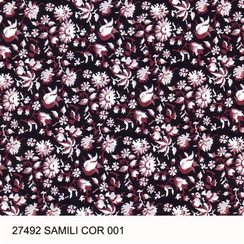 TECIDO TRICOLINE FLORAL 1,00 X 1,40 27492 SAMILI DES. 001 - NIAZI