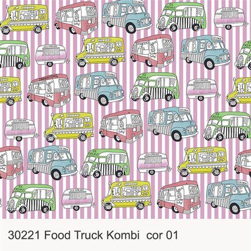 TECIDO TRICOLINE INFANTIL 1,00 X 1,40 30221 FOOD TRUCK KOMBI DES. 001 - NIAZI