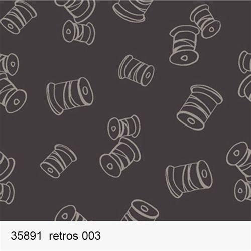 TECIDO TRICOLINE FROU FROU 1,00 X 1,50 35891 RETROS DES. 003 - NIAZI
