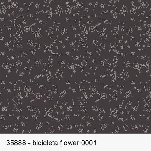 TECIDO TRICOLINE FROU FROU 1,00 X 1,50 35888 BICICLETA FLOWER DES. 001 - NIAZI