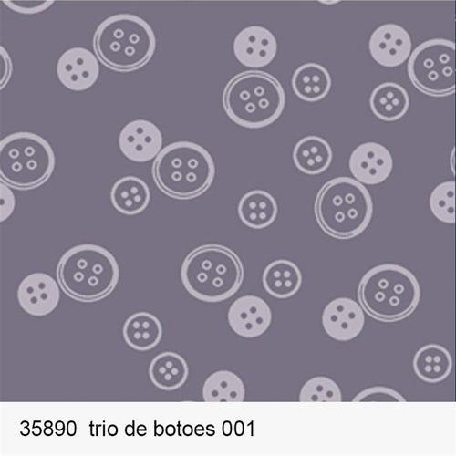 TECIDO TRICOLINE FROU FROU 1,00 X 1,50 35890 TRIO DE BOTÕES DES. 001 - NIAZI