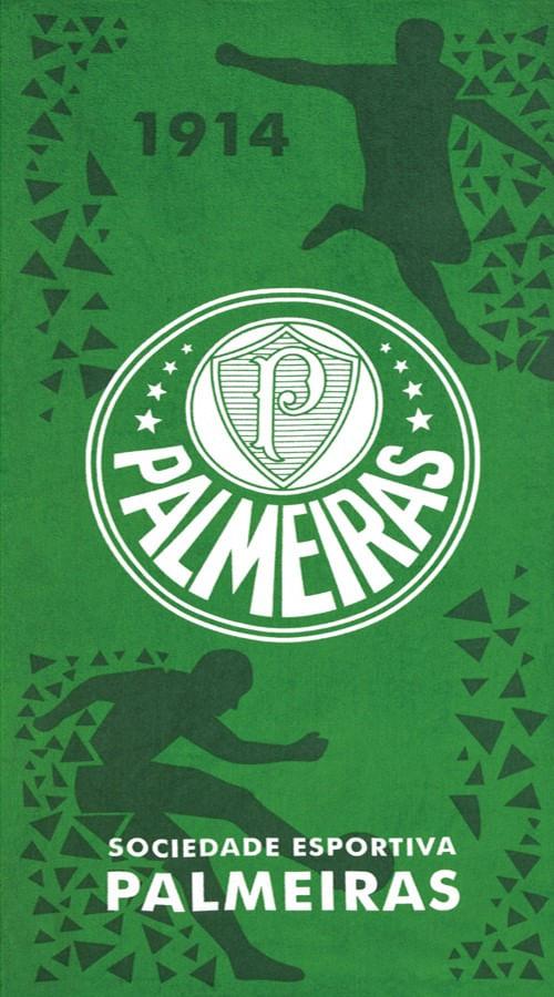 TOALHA DE PRAIA VELOUR CLUB PALMEIRAS 05 76 X 1,52 - DOHLER