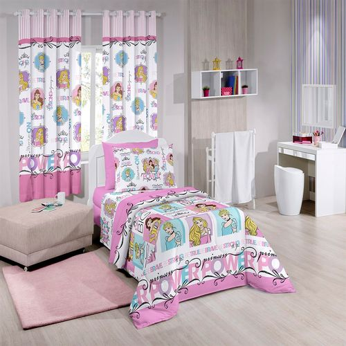 JOGO DE CAMA DISNEY LIGHT DUPLO PRINCESS POWER 1 ROSA - SANTISTA