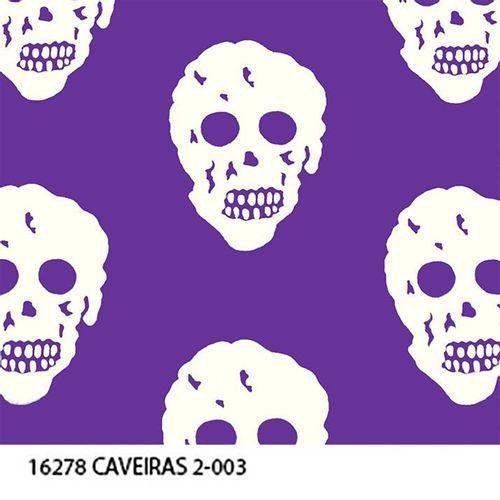 TECIDO TRICOLINE CAVEIRA 1,00 X 1,40 16278 CAVEIRA 2 DESENHO 003 - NIAZI