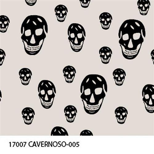 TECIDO TRICOLINE CAVEIRAS 1,00 X 1,40 17007 CAVERNOSO DESENHO 005 - NIAZI