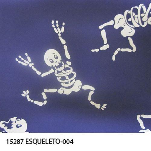 TECIDO TRICOLINE CAVEIRAS 1,00 X 1,40 15291 ESQUELETOS 4 DES. 004 - NIAZI