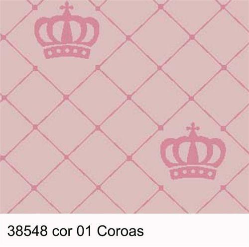 TECIDO SILK TRICOLINE INFANTIL 1,00 X 1,50 38548 COROAS DES. 001 - NIAZI