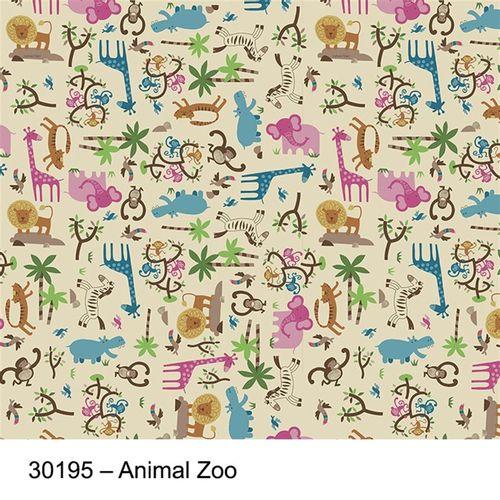 TECIDO SILK TRICOLINE ESTAMPADA INFANTIL 1,00 X 1,49 30195 ANIMAL ZOO DES. 001 - NIAZI