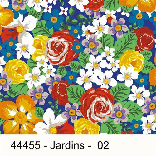 TECIDO TRICOLINE SILK ESTAMPADO FLORAL 1,00 X 1,50 44455 JARDINS DES. 002 - NIAZI