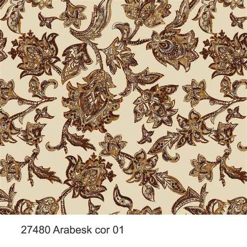 TECIDO TRICOLINE SILK FLORAL 1,00 X 1,50 27480 ARABESK DESENHO 001 - NIAZI
