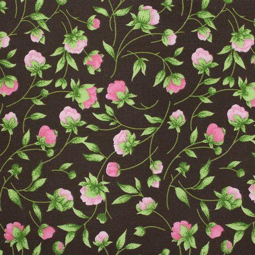 TECIDO TRICOLINE FLORAL 1,00 X 1,40 27493 BOTÕES DE ROSA DESENHO 002 - NIAZI
