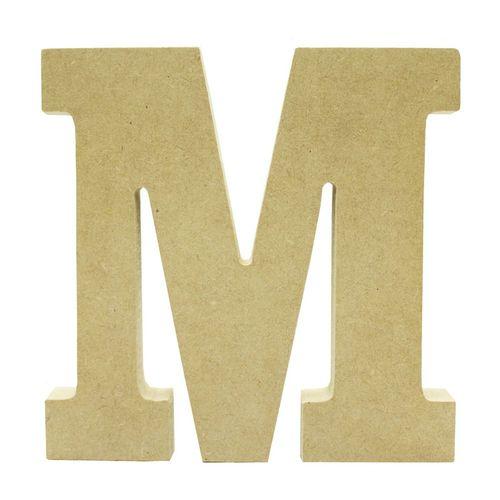 LETRA M EM MDF 12 CM (745) - NIAZI