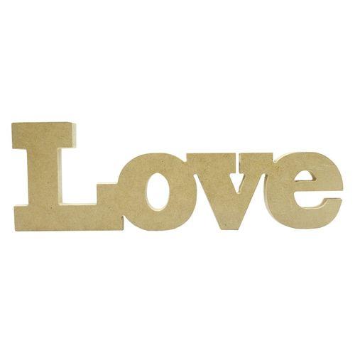 PALAVRA LOVE EM MDF 30 X 10 (343) - NIAZI
