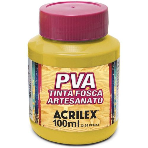 TINTA FOSCA P/ ARTESANATO - 100ML - AMARELO OURO (032100505)