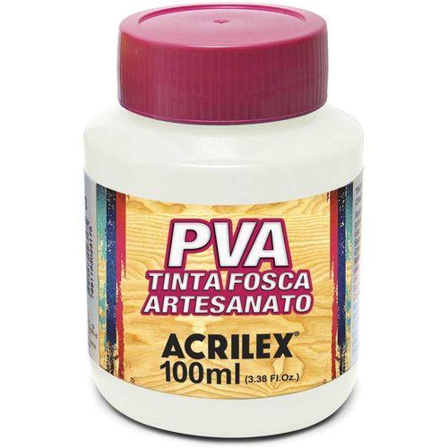 TINTA FOSCA P/ ARTESANATO - 100ML - BRANCA (032100519)