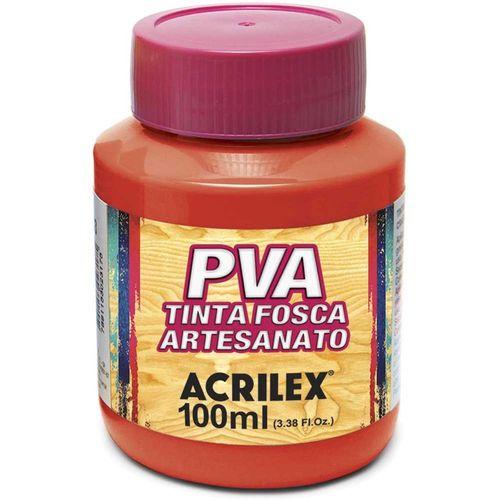 TINTA FOSCA P/ ARTESANATO - 100ML - VERMELHO FOGO (032100507)