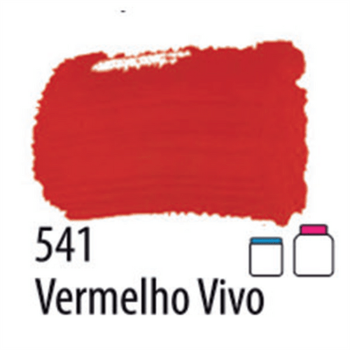 TINTA FOSCA PARA ARTESANATO VERMELHO VIVO 250ML (032250541) - ACRILEX