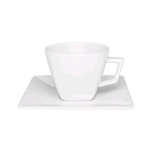 XÍCARA DE CAFÉ 75ML COM PIRES QUARTIER WHITE (GE02-2000) - OXFORD