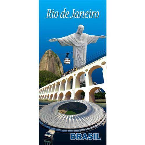 TOALHA DE PRAIA VELUDO TURISMO 0,76 X 1,52 RIO DE JANEIRO 7196 - BOUTON
