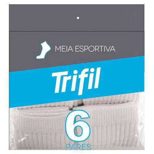 KIT 6 PARES DE MEIAS ESPORTIVAS T08720 - TRIFIL