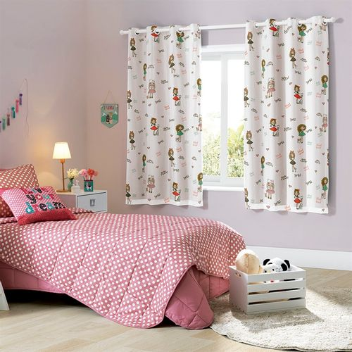 CORTINA PRATIKA KIDS 2,60 X 1,70 BEST FRIENDS - BELLA JANELA