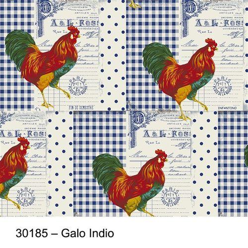 TECIDO TRICOLINE BICHOS 1,00 X 1,50 GALO INDIO 001 - NIAZI