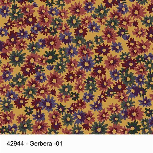 TECIDO TRICOLINE FLORAL 1,00 X 1,50 42944 GERBERA COR 01 - NIAZI