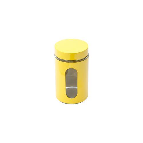 PORTA MANT DE ACO INOX C/FUNDO DE VIDRO AMARELO 1,3L (25803) - BON GOURMET