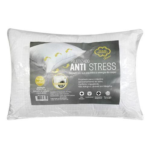 TRAVESSEIRO FIBRA 70X50CM PELETIZADO ANTI-STRESS - NIAZI