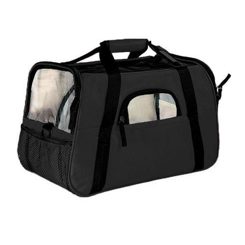 BOLSA TRANSPORTE GDE THE DOGS BAG PRETA (10675) - THE PETS BRASIL