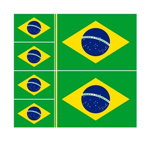 TECIDO BANDEIRA DO BRASIL VERTICAL DESENHO 02 - NIAZI
