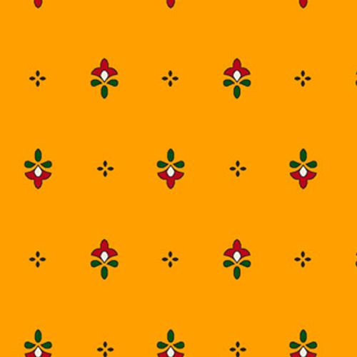 TECIDO TRICOLINE FLORAL 1,00 X 1,50 FLOR INDIANA DES. 001 - NIAZI